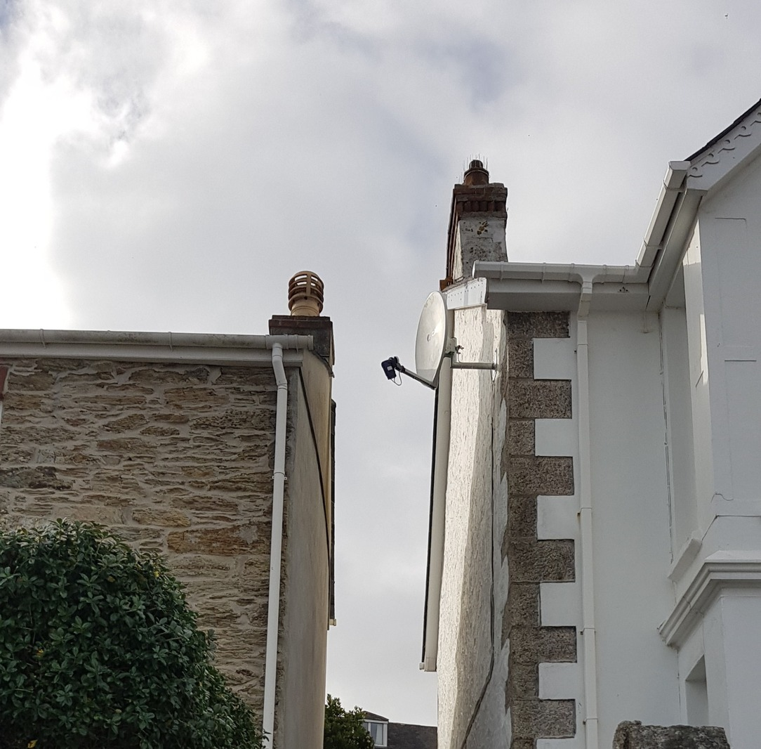 Freesat dish installation, penwerriss terrace, falmoth