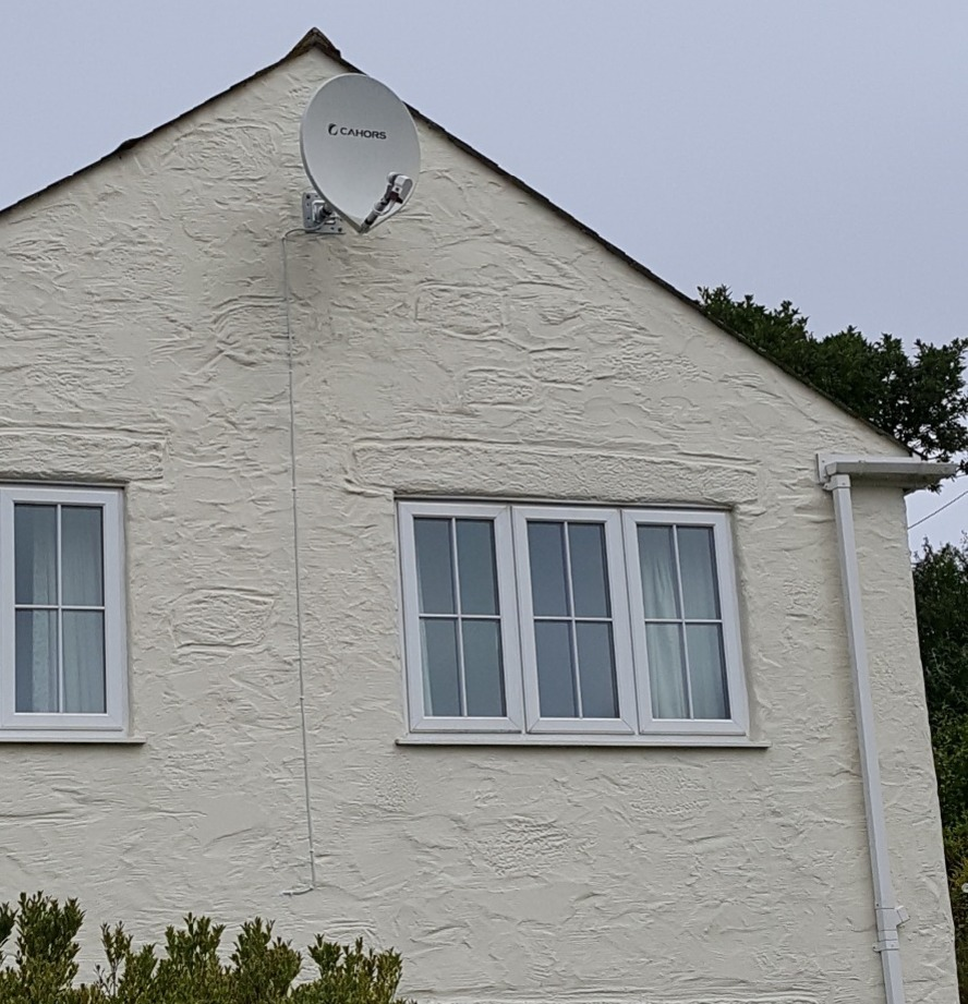 Fibreglass freeview installation, Helston, Cornwall