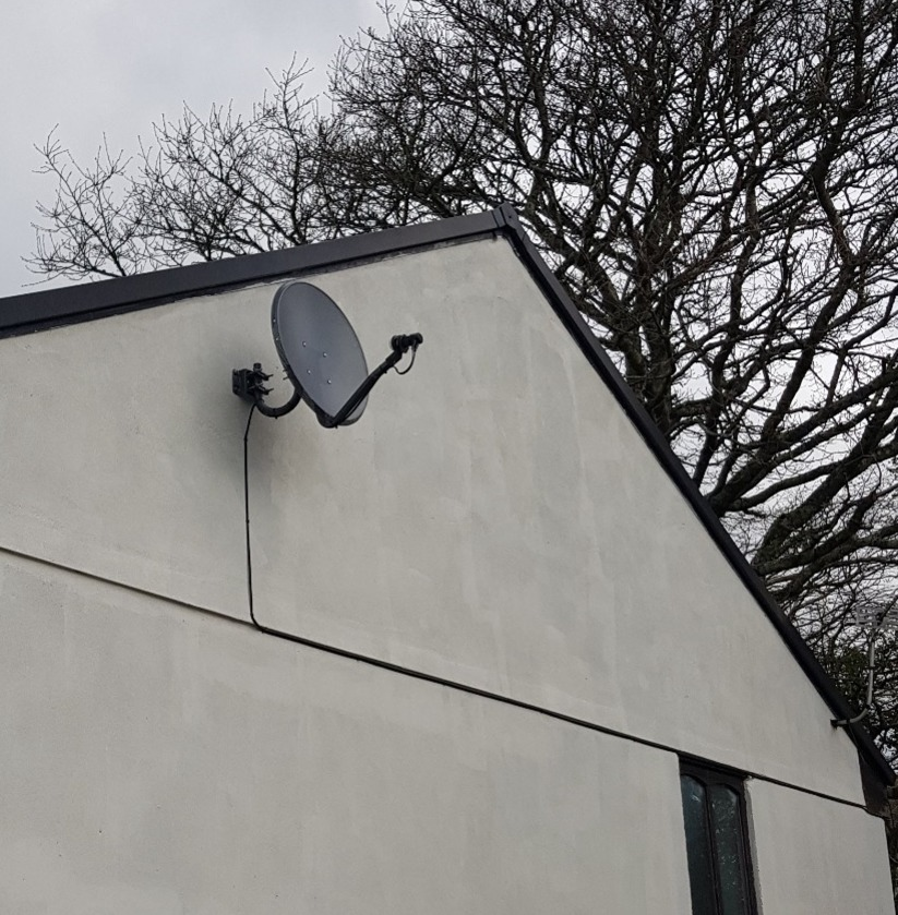 Freesat satellite dish, Installed in Truro